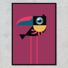 Husk at smile til den lille fugl – og til alle andre, for den sags skyld! Symbols, Letters, Design, Art, Minimalism, Craft Art, Icons, Letter, Kunst