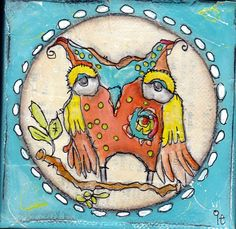 Love the style and the colors.   As for the owl, depressing old guy.
