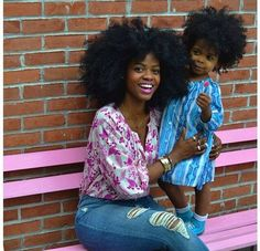 Natural Hair | Mother and daughter |