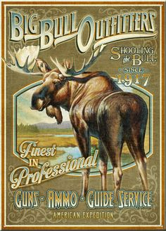 Big Bull Outfitters Vintage Tin Sign | American Expedition