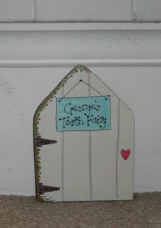 PERSONALISED TOOTH FAIRY DOOR FOR SKIRTING BOARD OR MOUSE HOLE DOOR