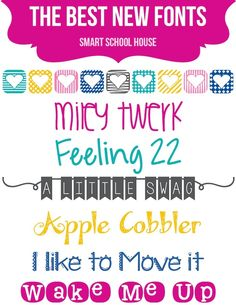 The Best New Fonts | Smart School House