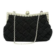 Smartstar Women Cross Weave Pleated Satin Rhinestone Clutch Handbag Bags - Black Smartstar http://www.amazon.ca/dp/B00NNEJQ9G/ref=cm_sw_r_pi_dp_rCVBvb12DKTEJ