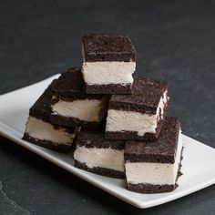 Brownie Ice Cream Sandwiches by Tasty