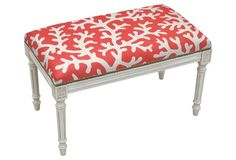 "Ollie 32"" Bench, Coral Coral"