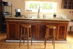 Ancien bar comptoir de bistrot