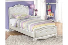 Zarollina 2-Piece Twin Upholstered Bed | Kids Beds | Ashley Furniture HomeStore | Arkansas Largest Furniture HomeStore | Come by and see us in Bryant, AR | Until then, see more on our Facebook page: https://www.facebook.com/theashleystore/