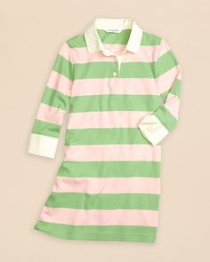 Brooks Brothers Girls' Rugby Stripe Dress - Sizes Xs-xl