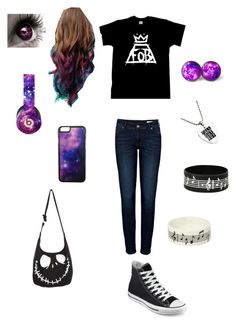 """Meeting Fall Out Boy"" by ender1027 ❤ liked on Polyvore featuring Anine Bing, Converse, Roial, Music Notes and Beats by Dr. Dre"