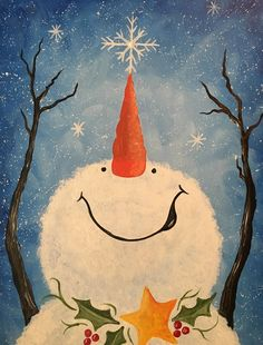Browse our upcoming painting classes and events at Naperville Pinot's Palette! Reserve your seat for the best paint and sip experience today! Snowman Crafts, Christmas Projects, Holiday Crafts, Paint And Sip, Christmas Signs, Christmas Decorations, Holiday Signs, Diy Christmas, Merry Christmas