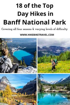 18 of the Best Banff Hikes You Can Do in a Day - Hike Bike Travel - personally tested across a range of difficulties #Albertahikes #besthikes #Banffhikes #bestBanffdayhikes Canadian Travel, Canadian Rockies, Banff National Park, National Parks, America And Canada, North America, Douglas Lake, Sunshine Village, Alberta Travel
