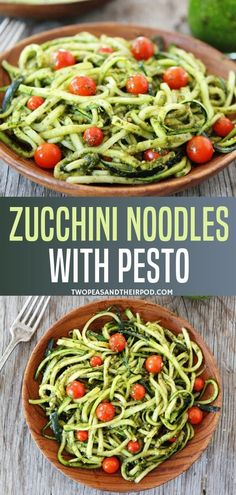 "Turn zucchini into noodles for a fun summer meal. Learn how to cook ""Zoodles"" for a healthy pasta alternative in 15 minutes! Zucchini Noodles with Pesto is a simple and healthy dish that the entire family will love!"