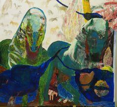 Hanna Hyytiäinen, Helvettejä on monenlaisia, 138 x 149, Acrylic paint collage on paper