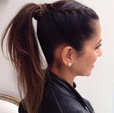 Super Hair Tutorial Medium Pony Tails Ideas in 2020 Chignon Hair, Braided Bun Hairstyles, Trendy Hairstyles, Braid Ponytail, Cabelo Ombre Hair, Medium Hair Styles, Long Hair Styles, Pinterest Hair, Super Hair
