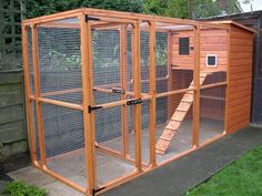 I SO TOTALLY WANT THIS BUT IN MY HOUSE FOR FOSTER KITTENS!!!!!!! AND ONE OUTSIDE TOO!!!!!!!!!!!!! Cattery : Cat House & Run