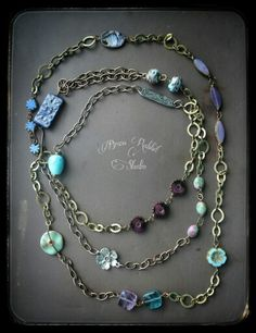 Layered assemblag necklace, by Brass Rabbit Studio. Www.brassrabbitstudio.etsy.com