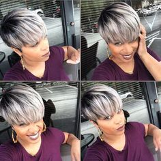 50 Hottest Balayage Hairstyles for Short Hair - Balayage Hair Color Ideas - Hairstyles Weekly Short Side Bangs, Short Hair Cuts, Curly Hair Styles, Natural Hair Styles, Natural Hair Wigs, Cute Short Haircuts, Haircut Short, Sassy Hair, Popular Haircuts