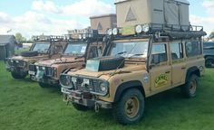 Land Rover Defender 110s 2x200 Tdi's and 1x 300Tdi Camel Trophy Support vehicles.