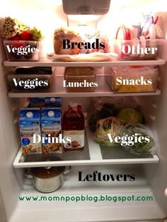 Fridge Organization: taking out the drawers and using bins instead!