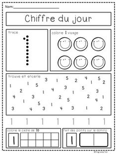 Chiffre-du-jour-French-Number-of-the-Day-Pack-1429276 Teaching Resources - TeachersPayTeachers.com