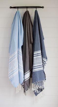Tunisian Fouta towels, handwoven from Egyptian cotton in the traditional style, x handmade in Tunisia, machine washable Best Bath Towels, Turkish Bath Towels, Spa Towels, Textiles, Egyptian Cotton, Beautiful Bathrooms, Fashion Branding, Home Textile, Line Patterns