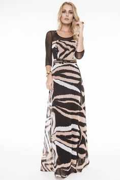 Vestido Fascinius Luxuoso  9175 é na Saia Bella, Compre Moda Evangélica Online!