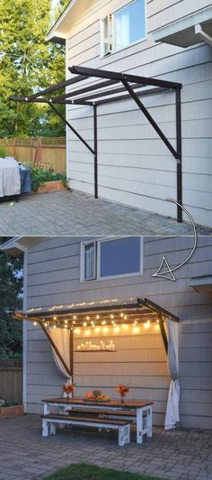The Best 21 DIY Lighting Ideas for Summer Patio and Yard - Proud Home Deco . - The Best 21 DIY Lighting Ideas for Summer Patio and Yard – Proud Home Deco … – - Easy Home Decor, Cheap Home Decor, Diy Yard Decor, Hone Decor Ideas, Diy Decorations For Home, Diy Porch, Home Goods Decor, Christmas Decorations, Lighting Concepts