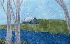 Barn By The River Fabric Post Card Art Quilt - CRAFTSTER CRAFT CHALLENGES