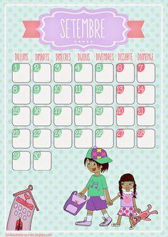 LLUVIA DE IDEAS: Descargables: Calendario ilustrado para el aula de septiembre
