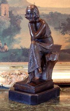 Darling Bronze Sculpture Art Deco Dancer by Chiparus.