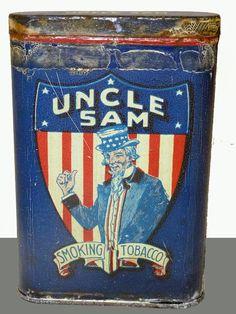 Vintage Uncle Sam Smoking Tobacco Tin