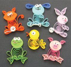Frog, Duckling, Rabbit, Pig, Cat & Dog