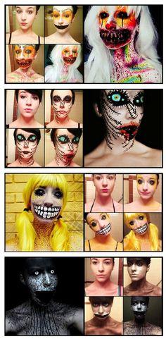 Maquillaje de miedo.