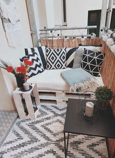 Apartment Balcony Decorating, Apartment Balconies, Apartment Living, Home Furniture, Outdoor Furniture Sets, Outdoor Decor, Room Inspiration, Interior Inspiration, Small Balcony Decor
