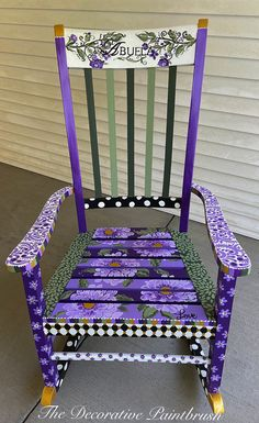 Hand painted rocker by The Decorative Paintbrush, Fayetteville,NC