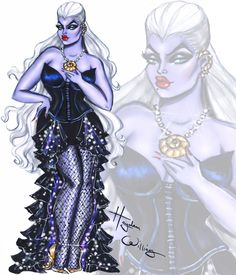 The Villainess collection by Hayden Williams: Ursula #Ursula #Disney #DisneyDivas| Be Inspirational ❥|Mz. Manerz: Being well dressed is a beautiful form of confidence, happiness & politeness