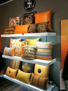 Elaine Smith has a great pillow collections in a huge variety of Sunbrella fabrics. Great way to just add a quick punch to your backyard - or your den for that matter! Decorative Cushions, Scatter Cushions, African Home Decor, Diy Pillows, Soft Furnishings, Pillow Design, Home Textile, Upholstery, Decoration