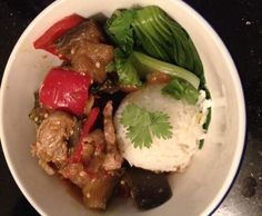 Recipe Thai pork with eggplant by HAPPY HINKS - Recipe of category Main dishes - meat