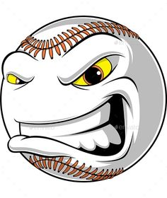Buy Angry Ball for Baseball by on GraphicRiver. Vector graphics Install any size without loss of quality. ZIP archive contains: 1 -file 1 -file PNG; 1 -file J. Baseball Vector, Baseball Art, Vector Design, Graphic Design, Design Art, Funny Emoji Faces, Shark Logo, Angels Logo, Hat Vector