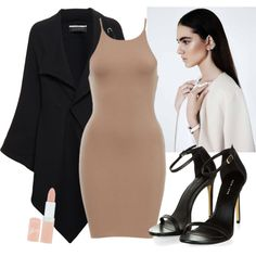 Nude by mariamakbbh on Polyvore featuring polyvore, fashion, style, Roland Mouret and Rimmel