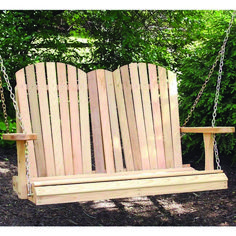 Wish your comfy Adirondack chair could give the gently sway of a porch swing? Wish your porch swing had the coveted style of an Adirondack chair? Well, look no Adirondack Furniture, Outdoor Furniture, Adirondack Chairs, Furniture Ideas, Modern Furniture, Patio Swing, Porch Swings, Pergola Patio, Backyard