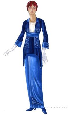 Academy Awards - Oscar for Best Costume Design - Titanic – Deborah Lynn Scott. Titanic Costume, Titanic Dress, Titanic Movie, Rms Titanic, Edwardian Fashion, Vintage Fashion, Vintage Costumes, Vintage Outfits, Costume Design Sketch