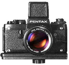 Pentax LX with a waist level viewfinder instead of a pentaprism eye level viewfinder ... Which is odd because Pentax invented the pentaprism viewfinder for 35mm SLRs!