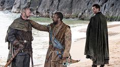 Salladhor San (Lucian Msamati)greets Davos Seaworth (Liam Cunningham)