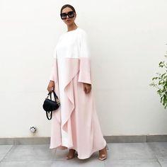 Contemporary Robes, Hijabs, Abayas & Modest Fashion for all occassions – Qabeela Abaya Fashion, Muslim Fashion, Kimono Fashion, Modest Fashion, Fashion Dresses, White Abaya, Caftan Dress, Hijab Dress, Oriental Fashion