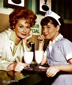 lucille ball with her daughter.