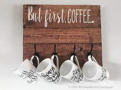 But first, coffee.. 4 cup mug holder. Mugs not included, but they are available in our shop under mug section. Please indicate the stain