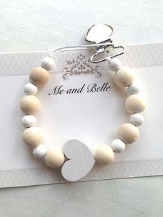 Wulstige Schnuller Clip Perlen Pseudo-Kette von MeAndBelle00