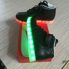 25dc31c66e3 Mens Nike Air Force One High Light Up Shoes Black 36-45 Portugal Adidas  Casual