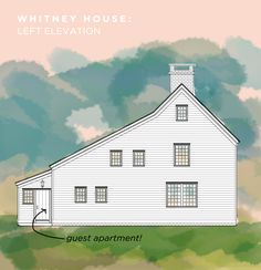 Whitney House LEFT elevation. A Saltbox inspired Home.